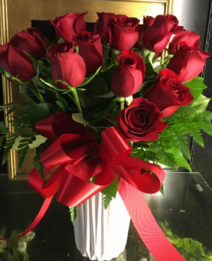 MY FAIR LADY 18 LONG STEMMED RED ROSES in Redding, CT | Flowers and Floral Art