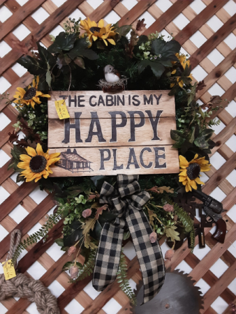 My Happy Place Custom made silk wreaths