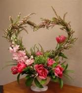My Heart Belongs To You Floral Basket Arrangement