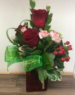 """"""" My Heart"""" Roses and hydrangea"""