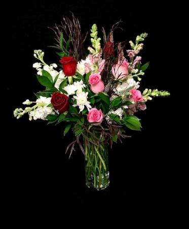Cupid Red & Pink Floral
