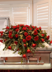 My Love Red rose Casket blanket