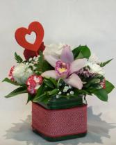 My Lovely Valentine Cube Arrangement