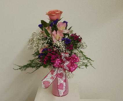 My Rosey Valentine Vase Arrangement