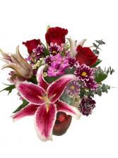 My Sweet Valentine Bouquet Vase Arrangement