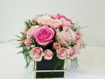 Sweet Pinks Boxed Arrangement