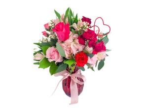 My Sweetheart Arrangement Vase  in Mantua, NJ | Lavender & Lace Florist & Gift Shop