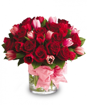My Sweetheart! Compact Roses & Tulips
