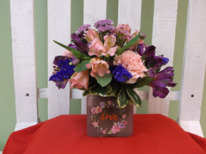 MY SWEETHEART CUBE ARRANGEMENT in Springfield, VT | WOODBURY FLORIST