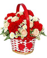 My Sweetie Bouquet Flower Basket