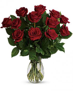 My True Love Bouquet Vase Arrangement in Calgary, AB | Posh Flowers Ltd
