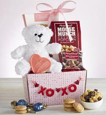 My Valentine Bear & Sweets Basket