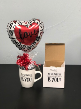 My Weakness is You Candy filled Coffee Mug Valentine