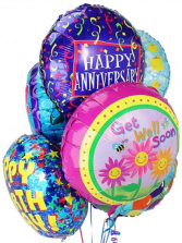 Mylar Balloon Bouquet - 10 ct Occasional