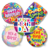 Mylar Balloons for all occasions! Balloons $10.00 each