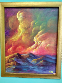 Mystical Skies Acrylic Painting