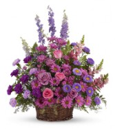 SERENE BLESSINGS TRIBUTE Shades of lavenders, pinks and purples
