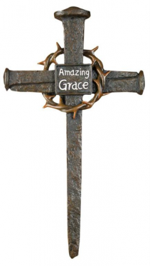 NAIL & THORN AMAZING GRACE WALL CROSS