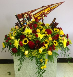 Name Your Team Casket Spray In White Plains Md Creative Expressions Florist