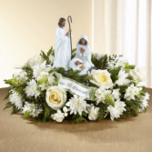 Nativity Scene Floral Arrangement Holiday Flowers