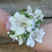 Natural Alstromeria Wrist Corsage