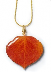 NATURAL ASPEN LEAF NECKLACE NATURAL ASPEN LEAF NECKLACE