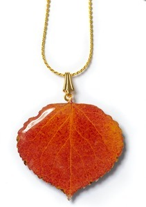 NATURAL ASPEN LEAF NECKLACE NATURAL ASPEN LEAF NECKLACE in Alamosa, CO | VENUS ONLINE FLOWERS