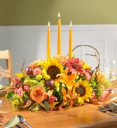 Natural Autumn Centerpeice Thanksgiving Centerpiece