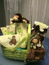 """Natural"" Baby- Boy gift basket"