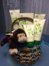 """Natural"" Baby- Boy small gift basket"