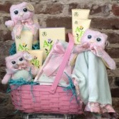 """Natural"" Baby- Girl gift basket"