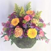 Natural Beauty Moss Basket Arrangement