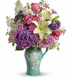 Natural Beauty Pitcher arrangement in Jasper, TX | ALWAYS REMEMBERED FLOWERS & GIFTS
