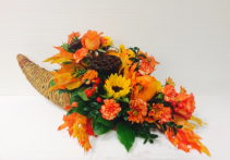 Natural Bounty Cornucopia Arrangement