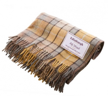 "Natural Buchanan Wool Blanket 70""x60"""