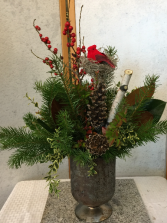 Natural Christmas centerpiece