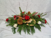 Natural Christmas Christmas Centerpiece