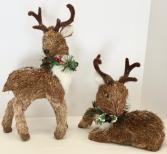 Natural Deer Pair   Holiday Decor