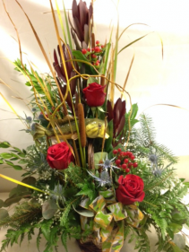 Natural Fishing Themed Arrangement masculine basket arrangement