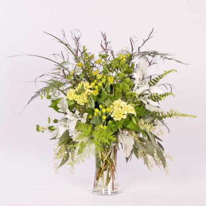 Natural Grace Vased Arrangement Sympathy Arrangement