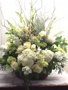 Natural Remembrance Basket Funeral Basket in Fairfield, CT | Blossoms at Dailey's Flower Shop