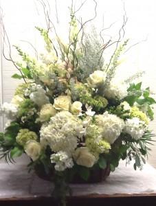 Natural Remembrance Basket Funeral Basket