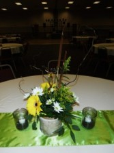Natural Wildflower-Birch Wedding Wedding Centerpieces
