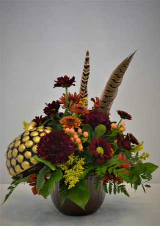 NATURALLY FALL FRESH FLOWER ARRANGEMENT