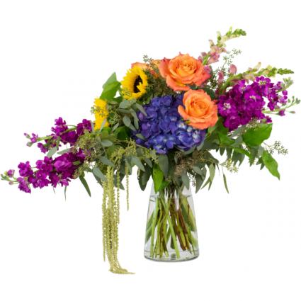 Naturally Prismatic Vase Arrangement