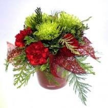 Natures Christmas Container Arrangement