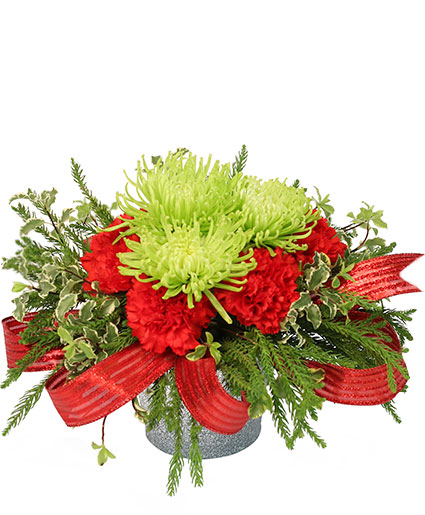 Nature's Christmas Gift Flower Arrangement