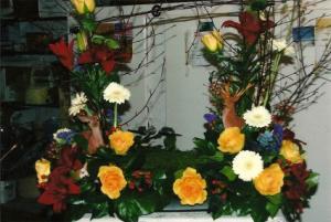 Nature's Memorial Spray Funeral Flowers in Herndon, PA | BITTERSWEET DESIGNS BY LORRIE