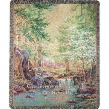 """Nature's Retreat Manual 50x60"""" Tapestry Throw"""
