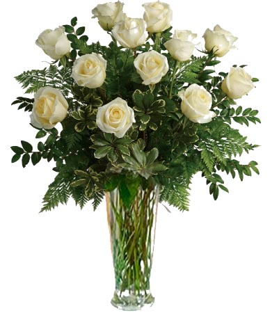 Nature's White Roses 1 Dozen, 2 Dozen or 3 Dozen